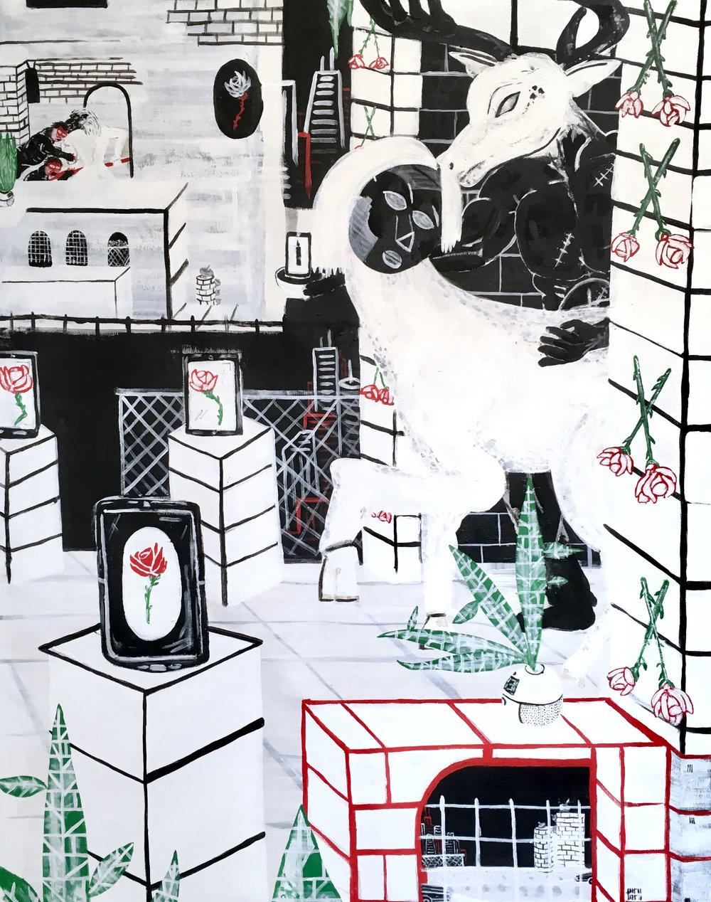 Kc Ortiz, Saturday Sept 17, 1994 (90x70), 2018.