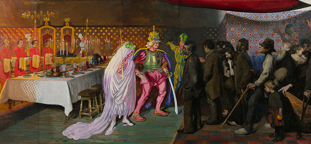 J.F. Willumsen: Kongesønnens Bryllup, 1888-1949 (detalje). Tilhører J.F. Willumsens Museum.