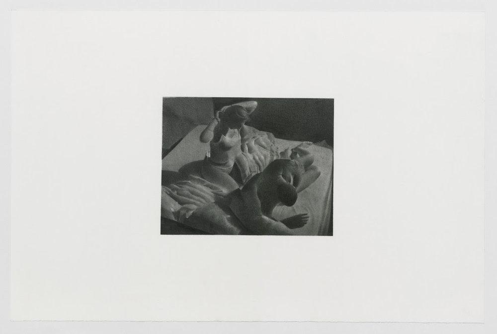 Andreas Albrectsen: Untitled (2018-03-05. 10.10.33 AM), 2018. Carbon, Graphite on cotton paper, 36 x 55 cm.