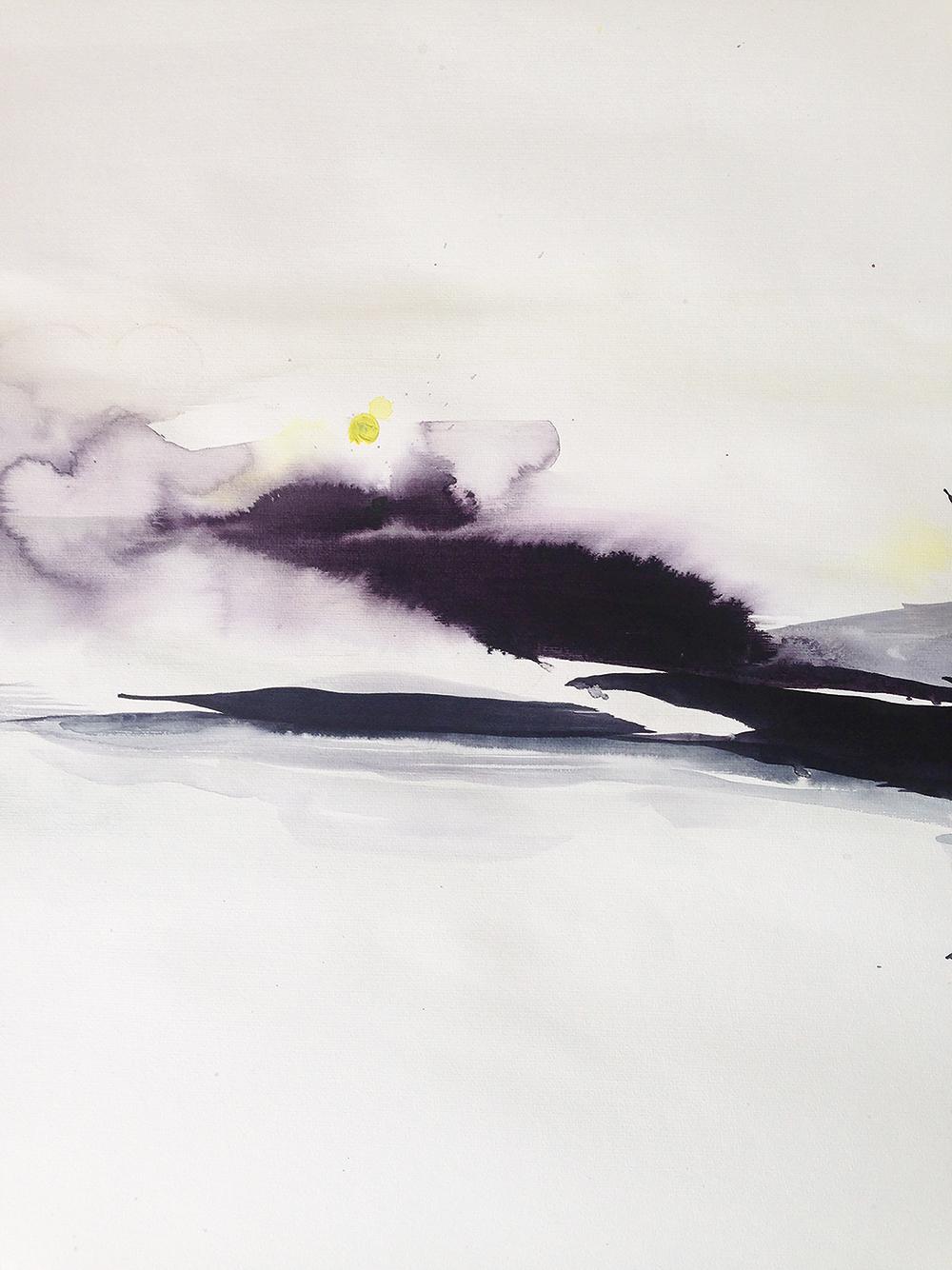 Akvarel af Iben Munnecke.