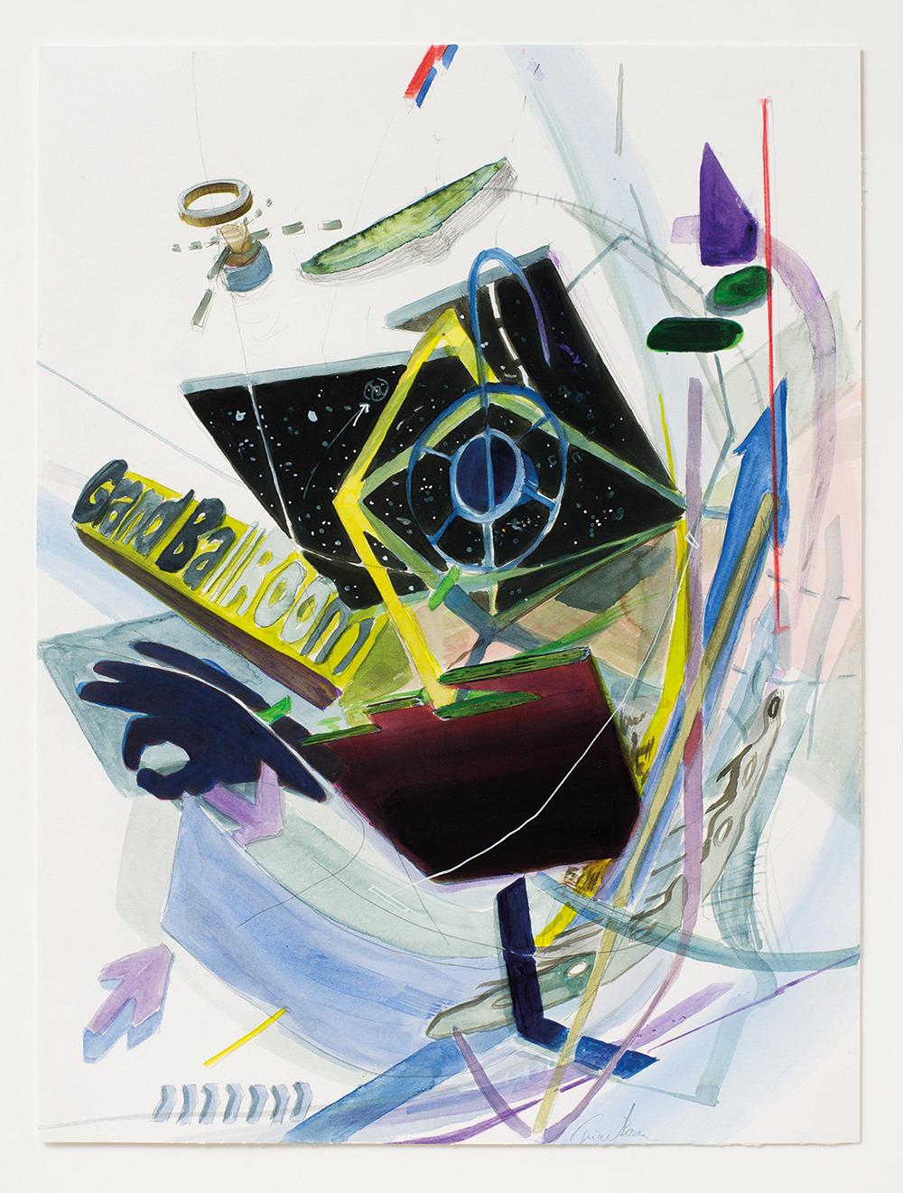 Akvarel af Trine Boesen, Gand ballroom.