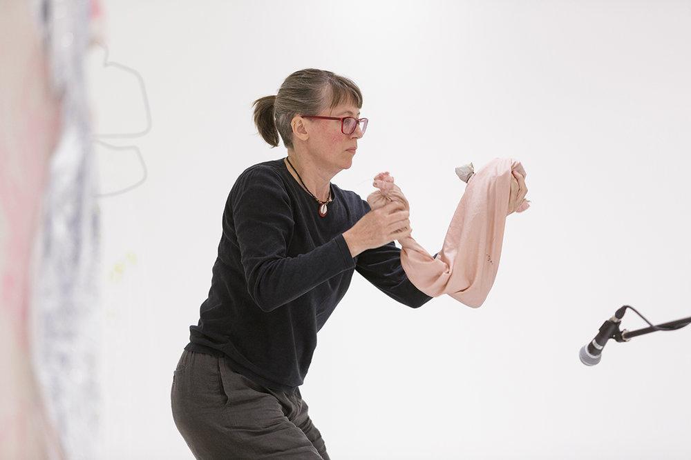 Janina Lange. Storm Exercise. Foley performance. Photo: Tim Bowditch.