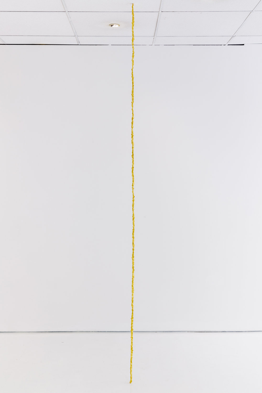 Janina Lange. Strike 2018 (bronze Fulgurite cast, 18 carat gold 240 x 1 x 1 cm). Photo: Tim Bowditch.