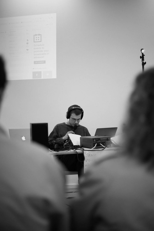 EC1 24H Day #1: Max Negrelli curated by Pete Lamberto. Photo Pete Lamberto.