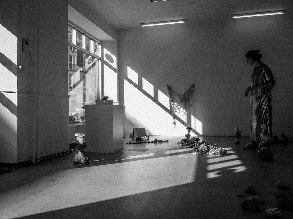 EC1 24H Day #12: Nana-Francisca Schottlander curated by Paola Paleari. Photo Johan Rauhe.