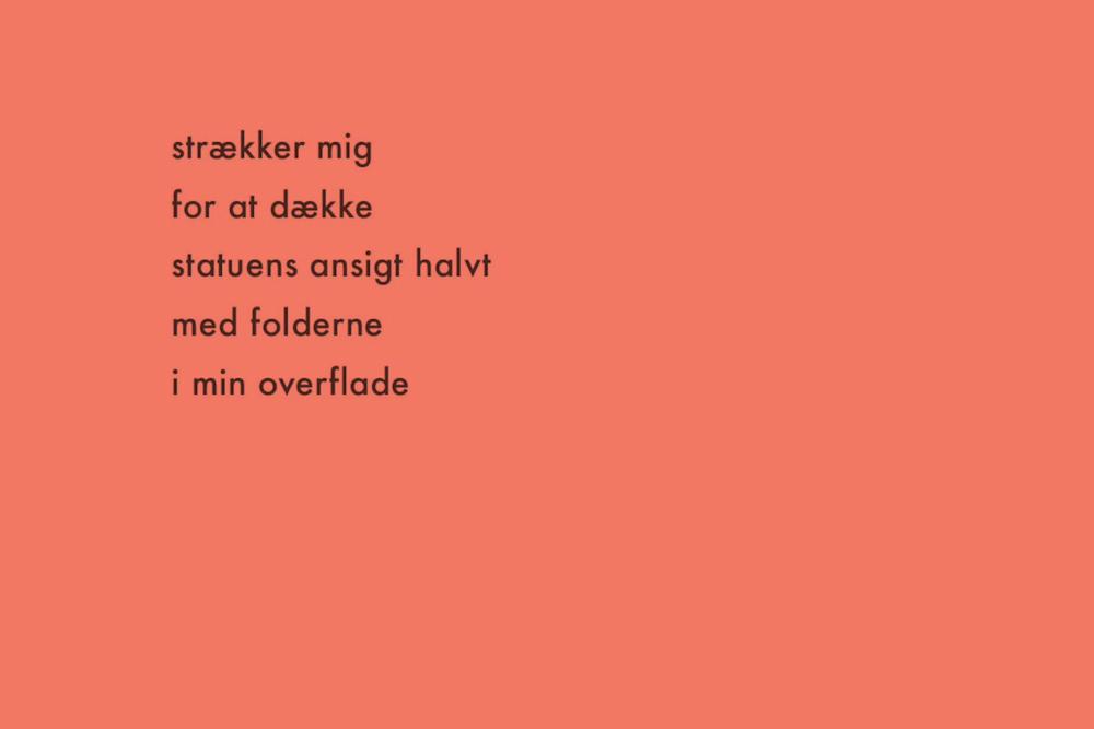 Still fra poesi projektion. Digte af Helene Johanne Christensen.
