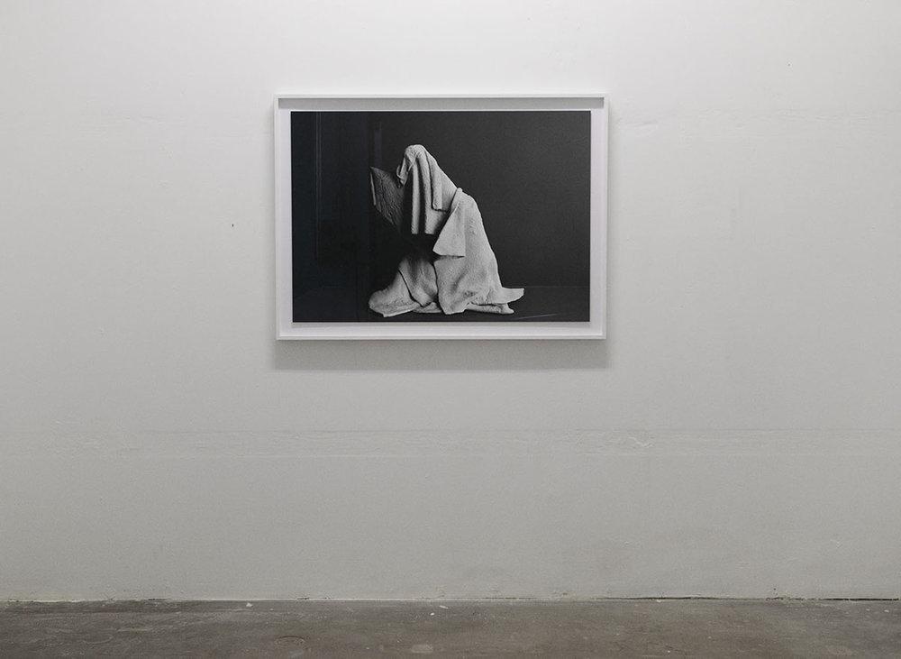 "Valérie Collart ""L'Hermite,"" 2017 (Black and white photo print, 124x91x4 cm). Photo: Valérie Collart."