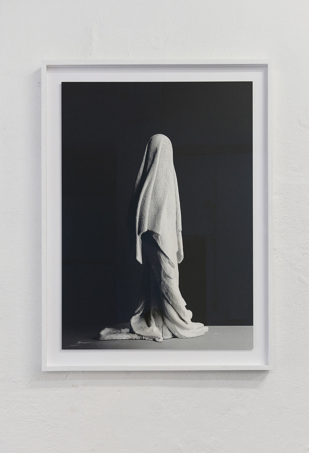 "Valérie Collart ""Sillage,"" 2017 (Black and white photo print, 92x71x4 cm). Photo: Valérie Collart."