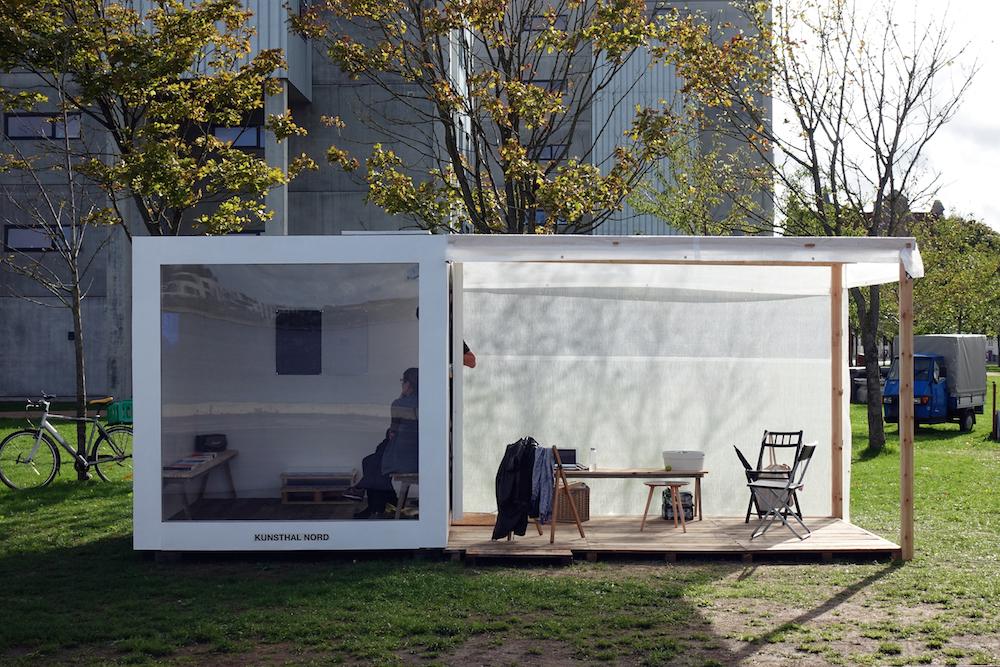 "Scott William Raby ""Nomadic Platform for Eco-Economic Futures� (installation view). Photo: Rikke Ehlers Nilsson."