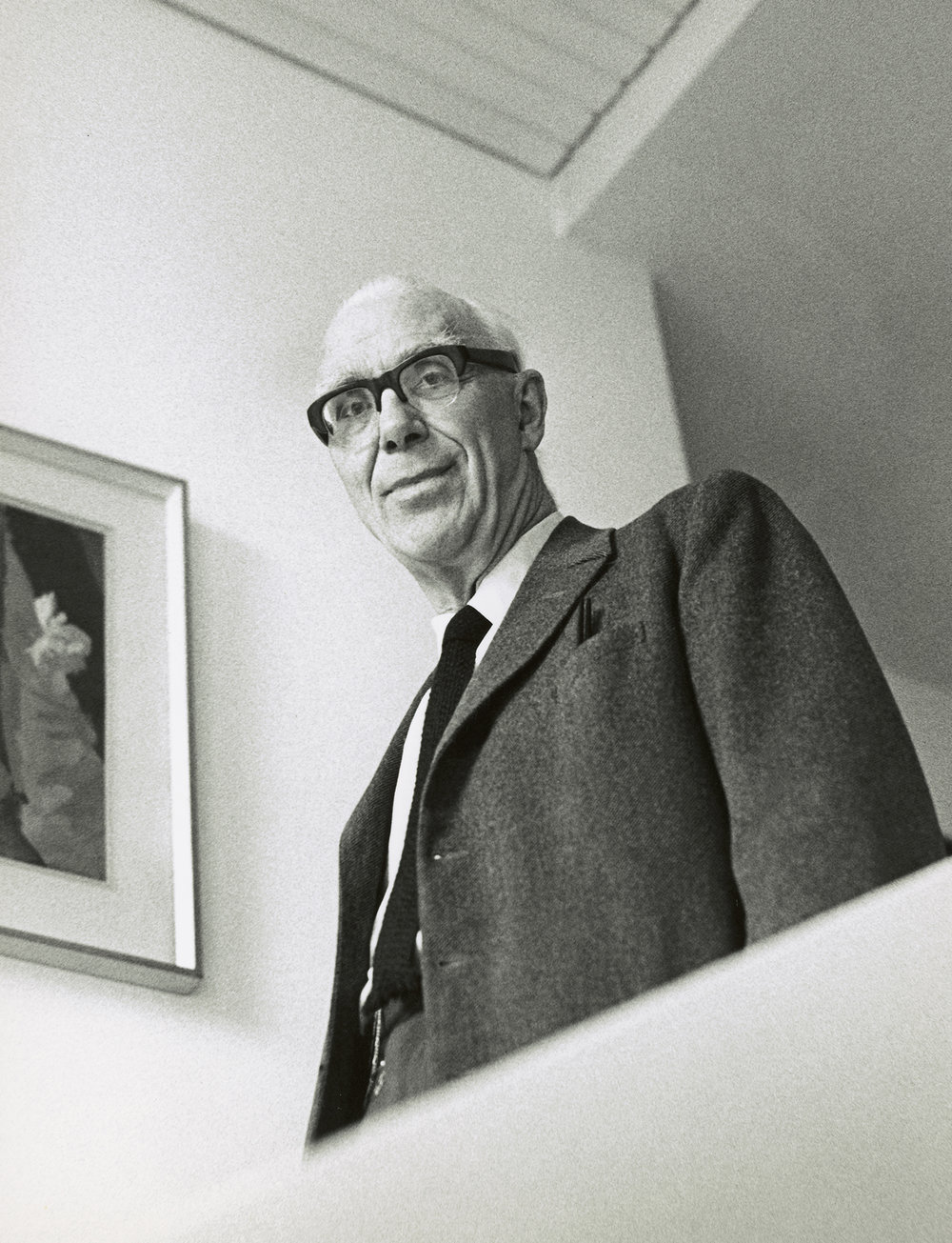 Sir Ove Arup. Foto: Godfrey Argent © National Portrait Gallery, London.