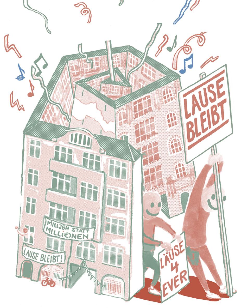 Illustration af Lause Bleibt.