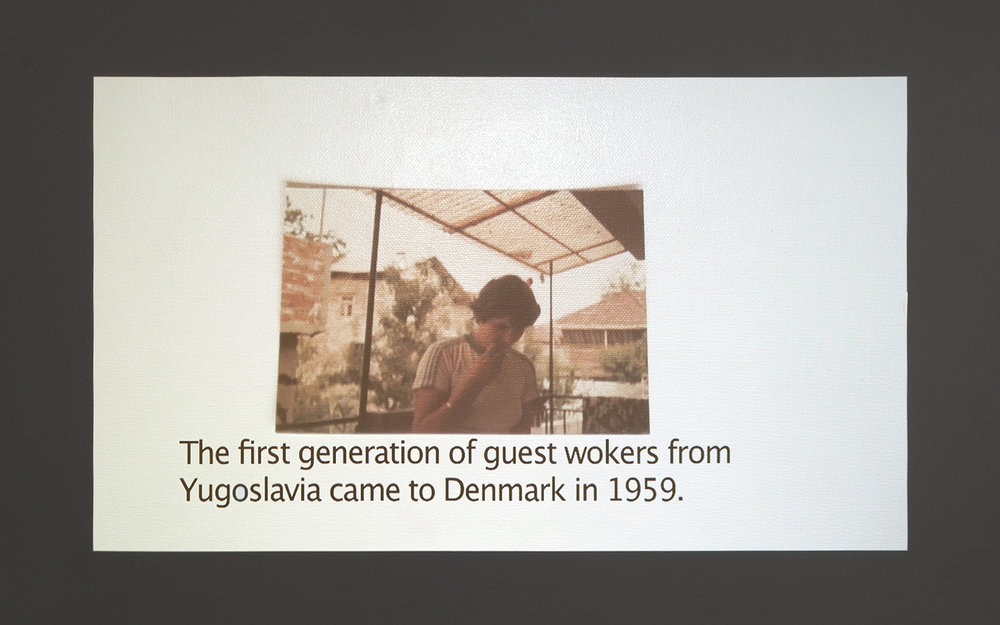 "Suada Demirovic ""Familiealbum 1952-1990,"" 2016. Foto: Kristian Touborg."
