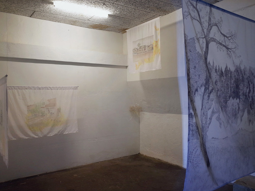 """Isabel Theselius """"I Will Tell You How Fire Comes� (installation view). Foto: Marko Cesarec."""