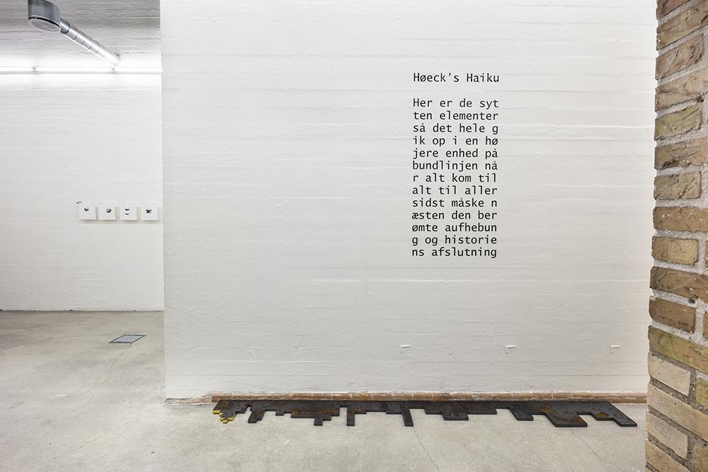 Morten Stræde, Höeck's Haiku (2018) og Frederik Stjernfelt, tekst (2018). Foto: Niels Fabæk.