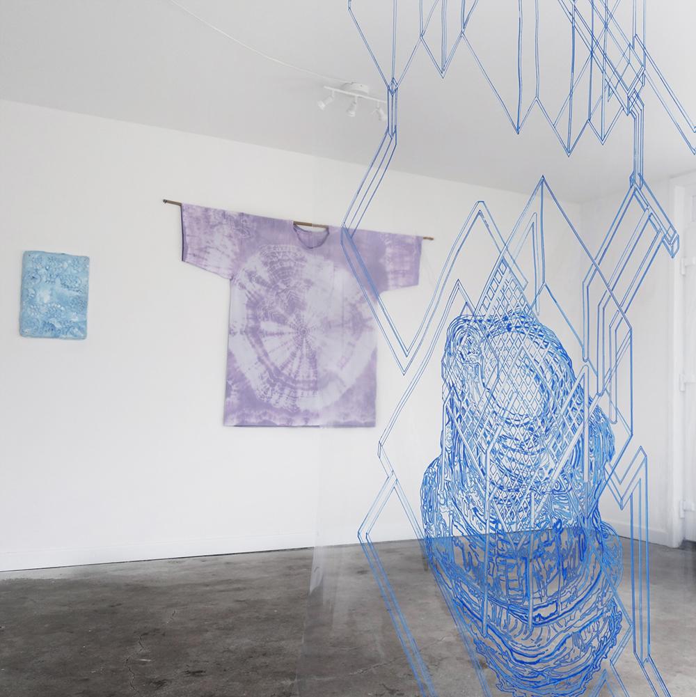 Installation view Blaue Geister, 2018. Photo: Se!