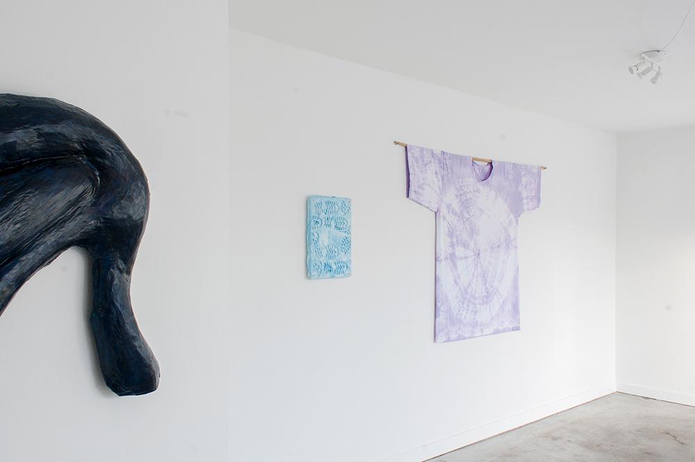 Johanne Skovbo Lasgaard, Installation view Blaue Geister, 2018. Photo: Jacob Friis-Holm Nielsen.