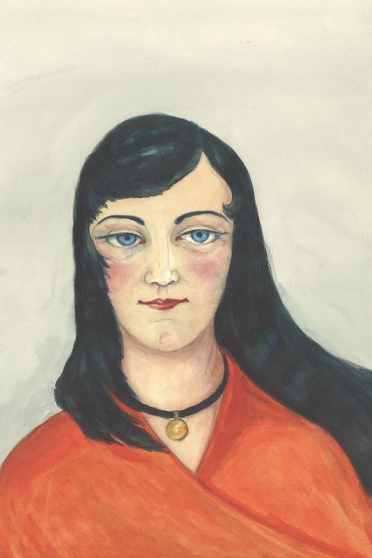 """Ingeborg Prehn """"Titel ukendt� uden år. © Museum Ovartaci."""