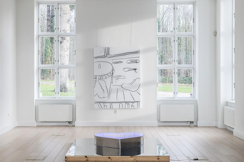 Viera Collaro, Kærlighed, Tese44, 2016 (aluminium, stål, akryl, RGB dioder, hvide dioder, træ, 180x180 cm). Foto: Andreas Bastiansen.