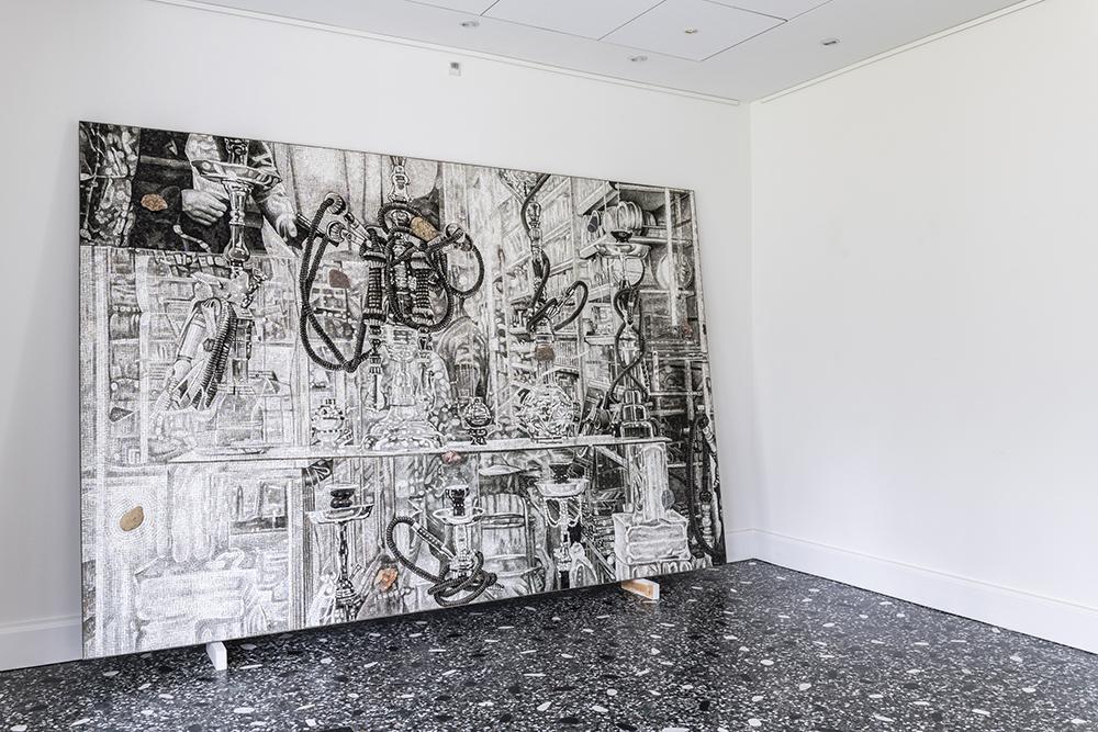 Erik A. Frandsen, Uden titel, 2016 (mosaik, 200x300 cm).  Foto: Andreas Bastiansen.