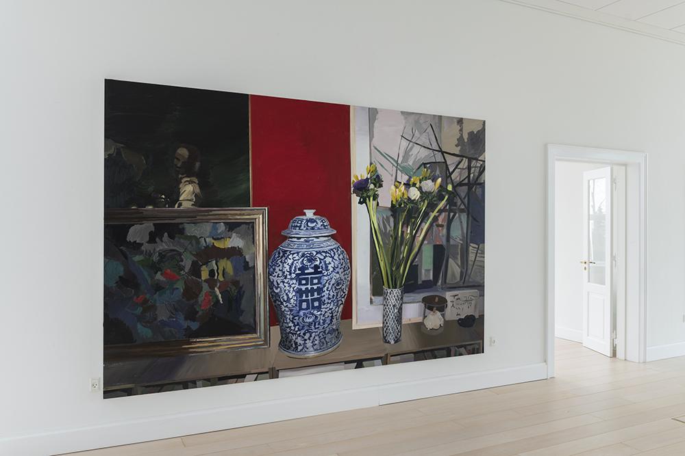 Erik A Frandsen, Stilleben 5, 2018 (olie på lærred, 220x330 cm).  Foto: Andreas Bastiansen.