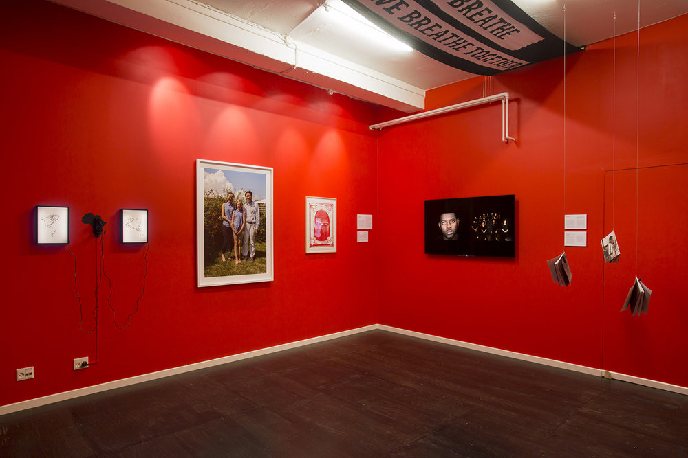 """""""Decolonizing Appearance"""" (installation view). Photo: Mads Holm."""