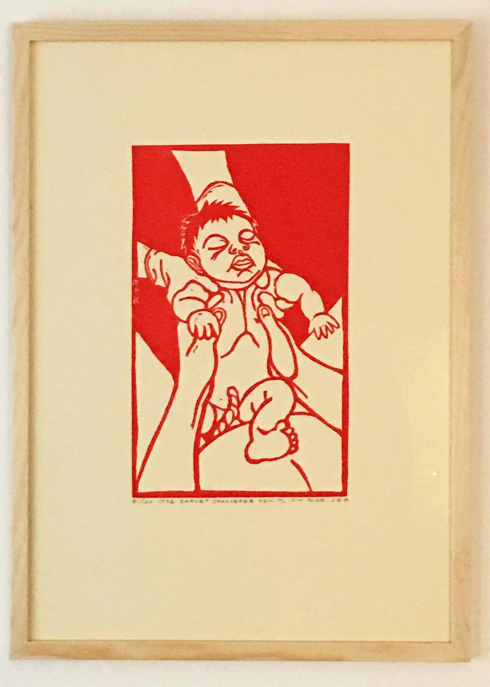 """Dea Trier Mørch """"Barnet spadserer hen til mor"""", 1976"""
