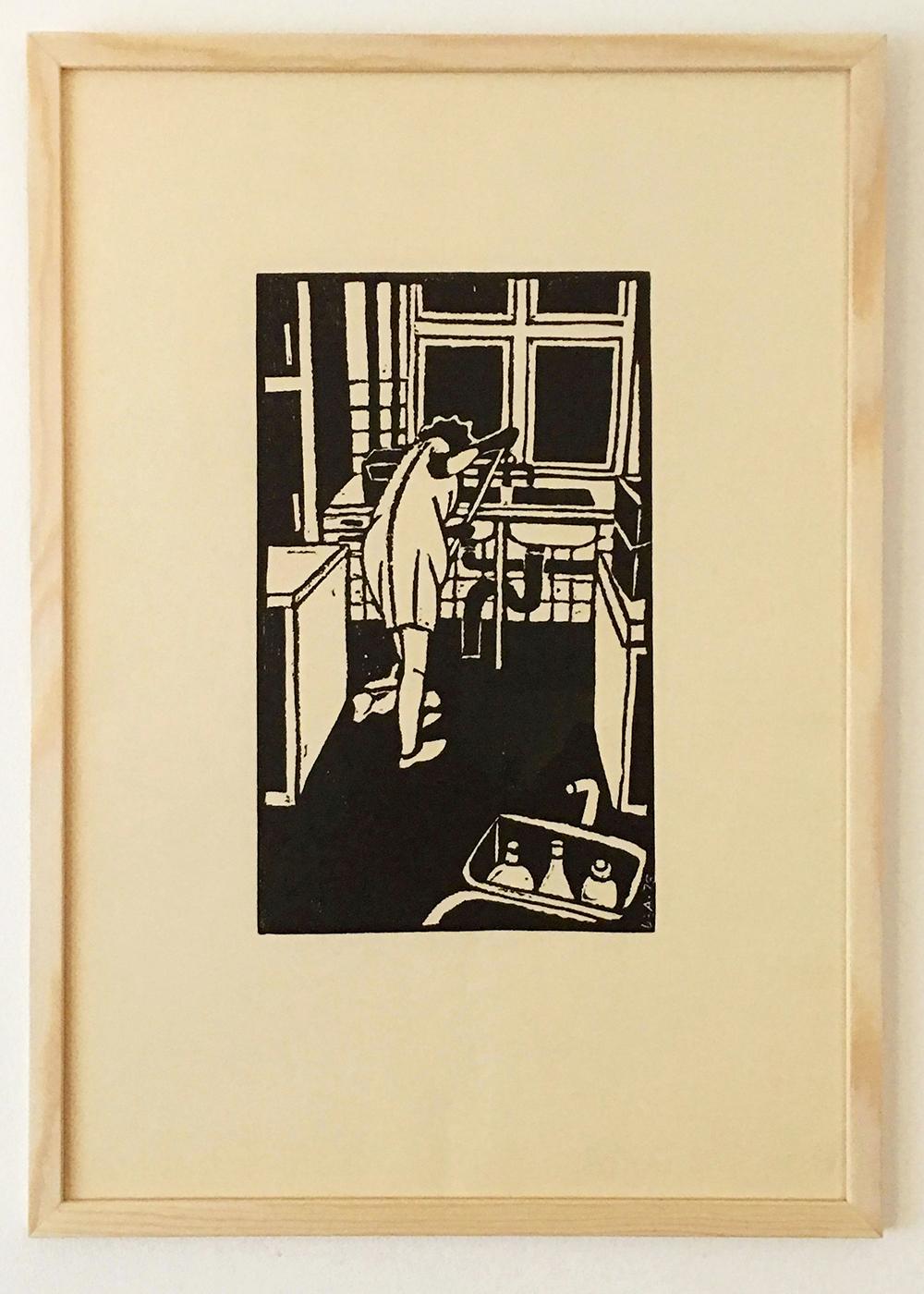 "Dea Trier Mørch ""Tidlig morgen i køkkenet - Baska"", 1976"