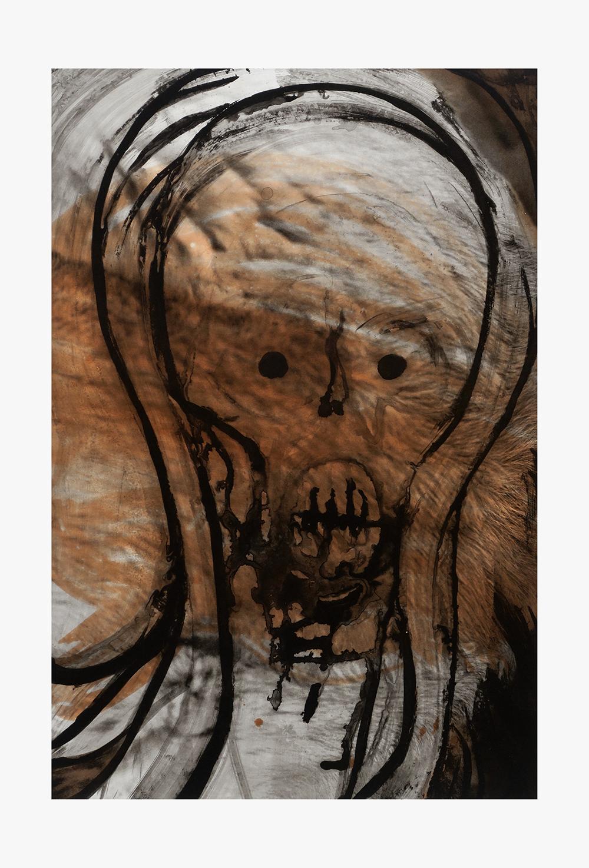 Huma Bhabha, Leochicospeedy, 2016 (fotogravure, syrelavering, 88,5 x 60 cm). BORCH Editions.