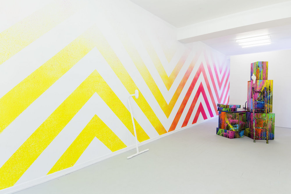"""Jerszy Seymour """"Abstract Cave-ism� Wall Painting), 2019."""