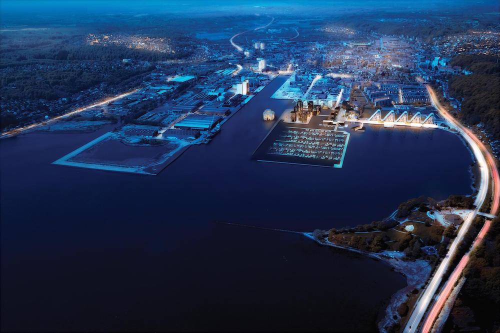 Vejle Fjord. Foto: Ravn Arkitekter for Resilient Vejle.