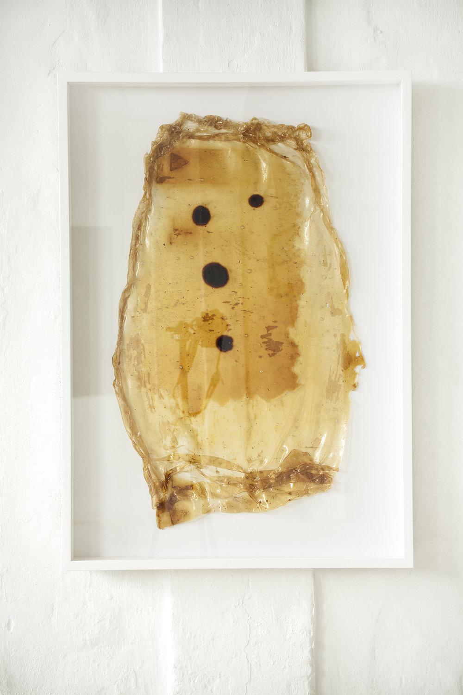 Signe Vad, Latex og Blod (Lavet på gulv, 70x100 cm).