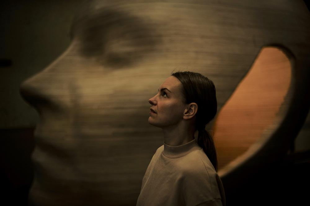 Tête de Louise Alenius, 2019. Photo: Lina Hashim.