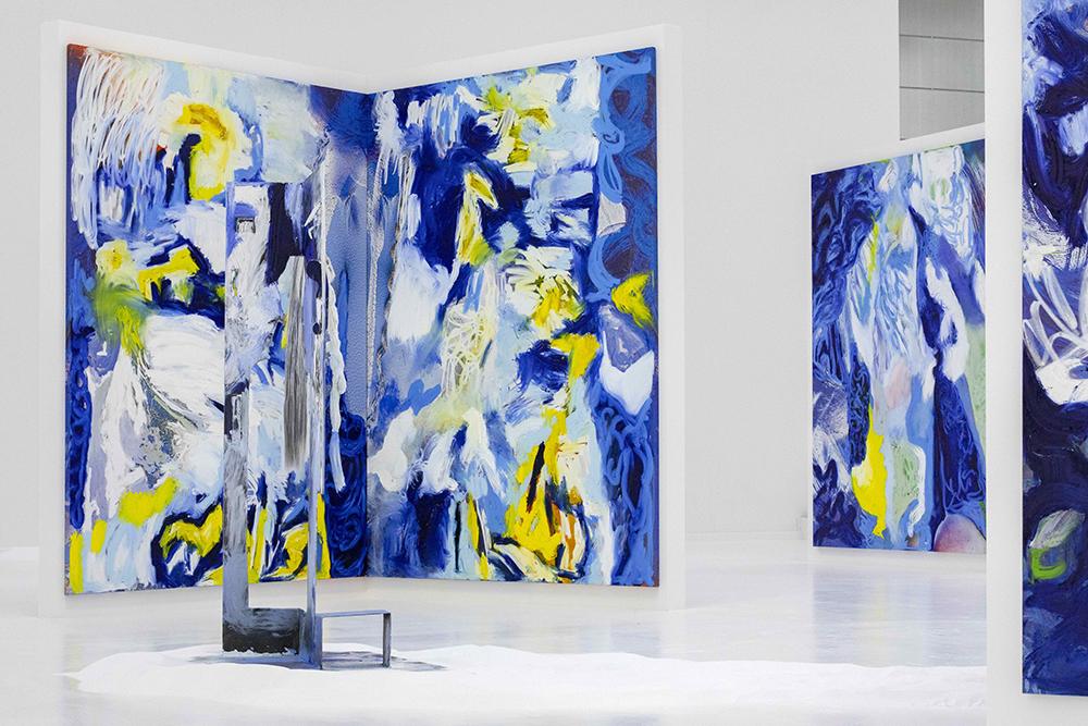 Donna Huanca, LENGUA LLORONA (2019). Installation view at Copenhagen Contemporary. Photo: Anders Sune Berg.