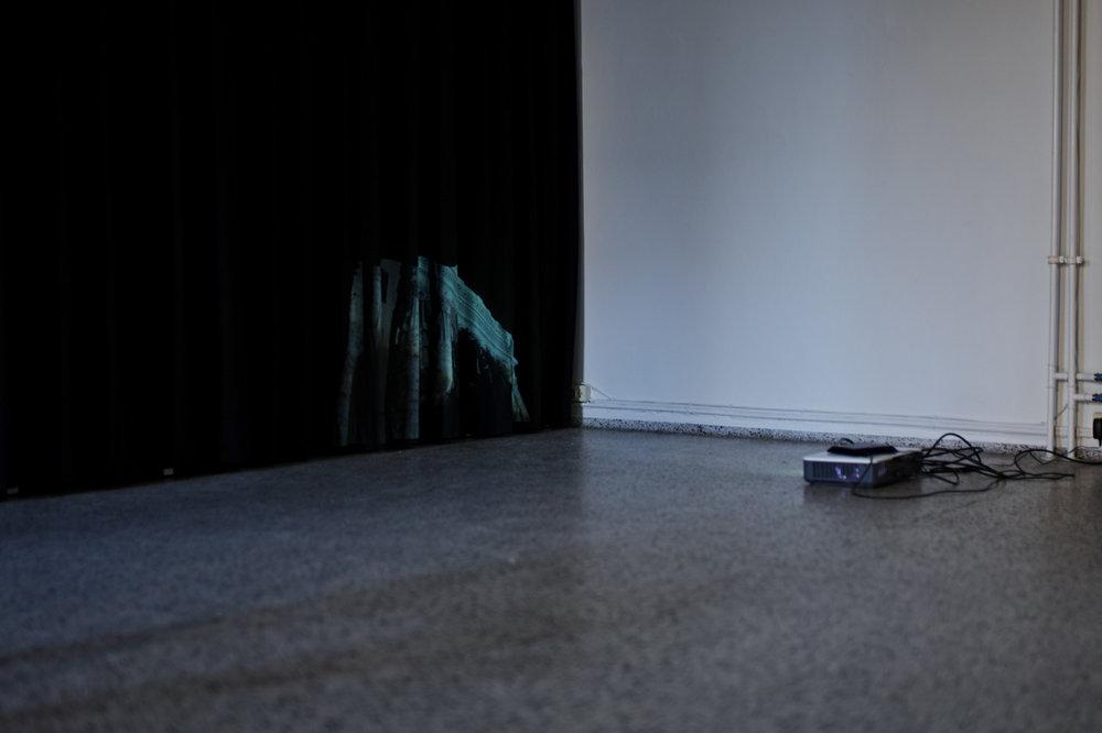 "Fredrik Tydén ""The New Liturgy,� 2019 (video loop for projection [07:41] ). Photo: Jakob Emdal."