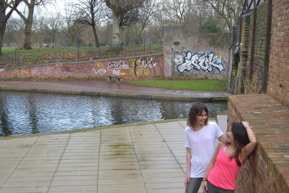 Mucking around on Regent's Canal with Vikki.