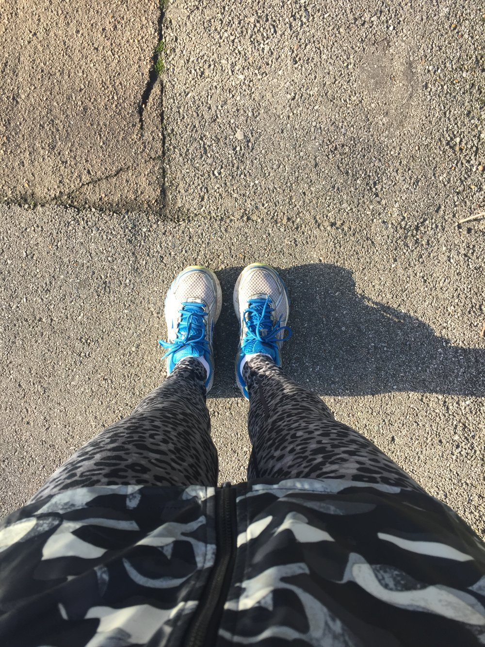 Another tip...the run doesn't count unless you have a pic of your feet.