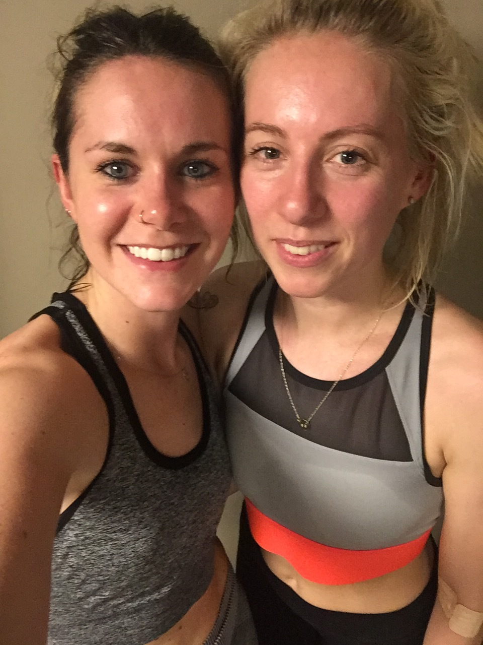 Super shiny people post hot yoga.