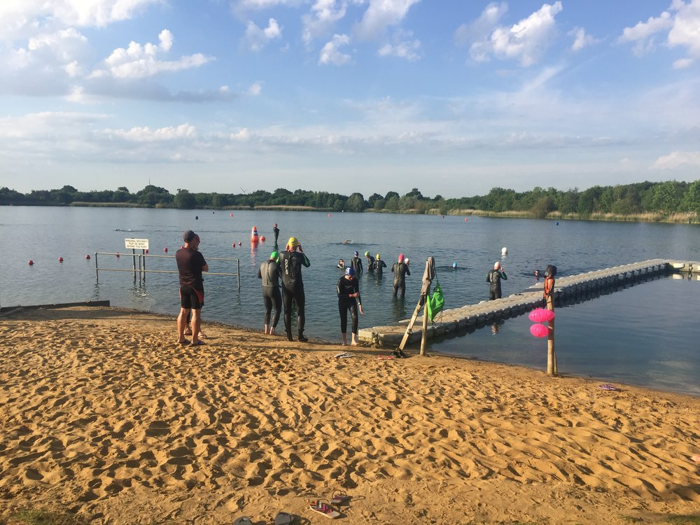 My first open water swim at Stubbers