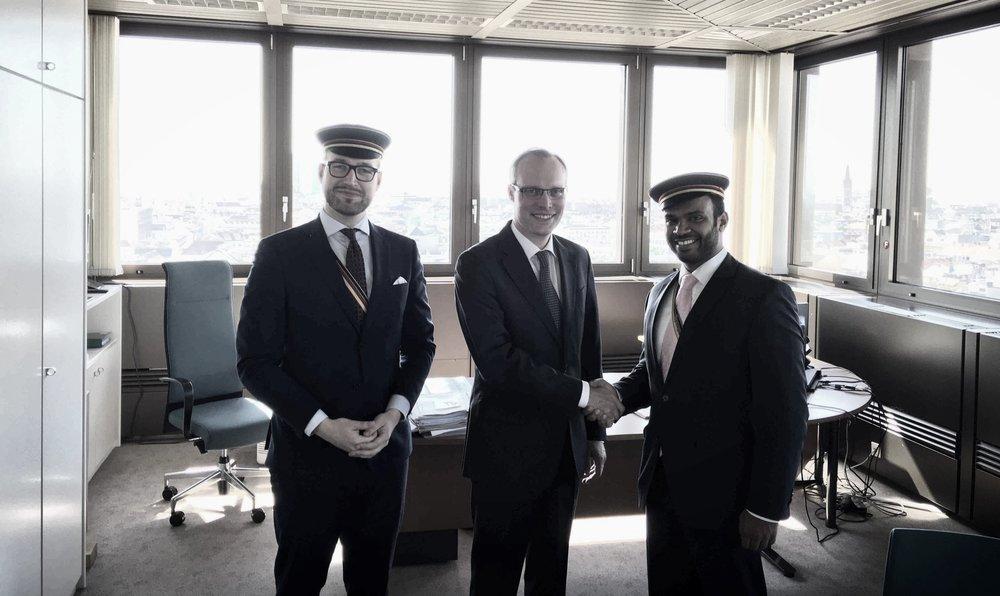 Alexander Biach trifft Vertreter des ÖCV (c) Privat