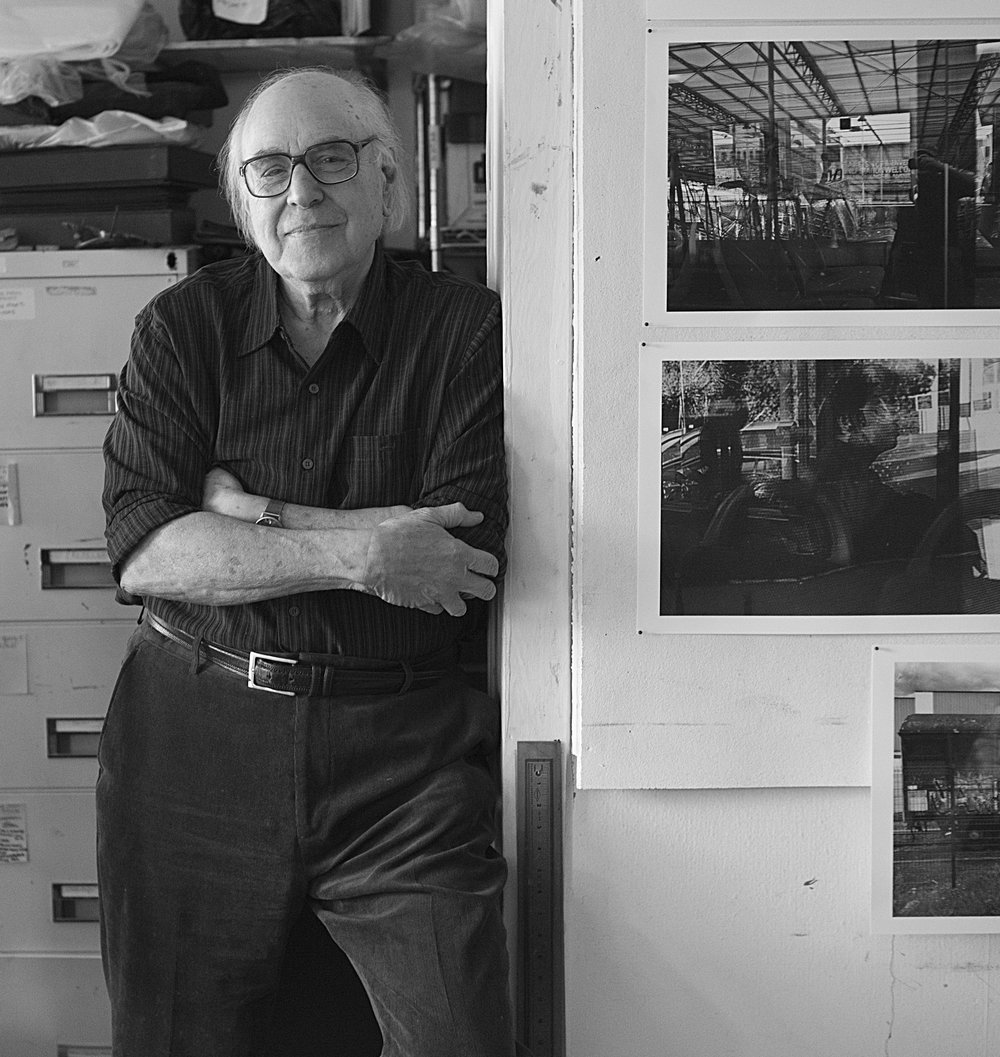 Peter Angelo Simon in his studio by Amelia Krales, 2016