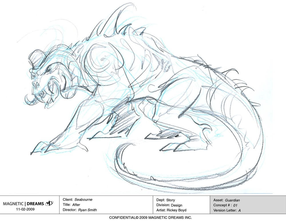 Early concept art for the Guardian