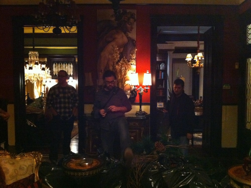 Location scout in Birmingham, AL — November, 2010. From L: Line Producer Dan Atchison, DP Blake McClure, 1st AD Justin Tolley.