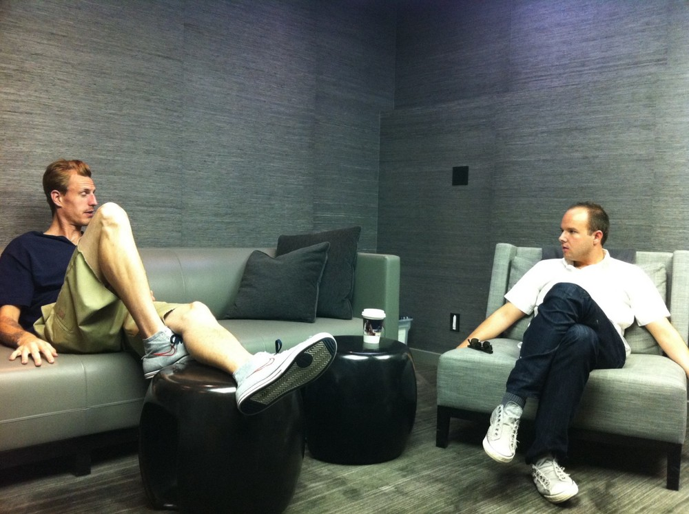 Casting meeting in LA — Sep, 2010. Casting Director/Co-producer $abyn Mayfield and Producer Brandon Gregory.