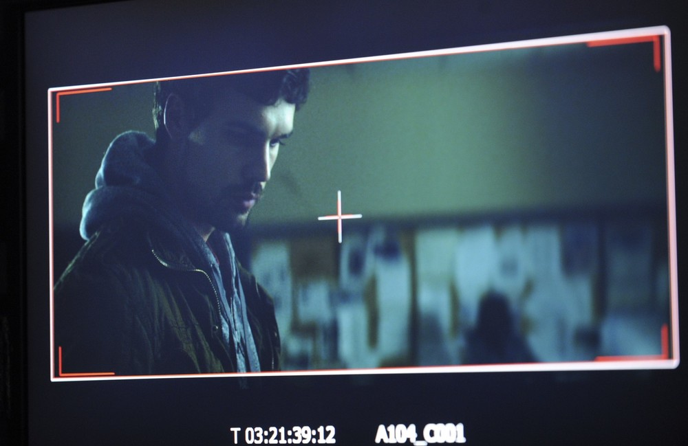 Steven Strait, as seen through the monitor