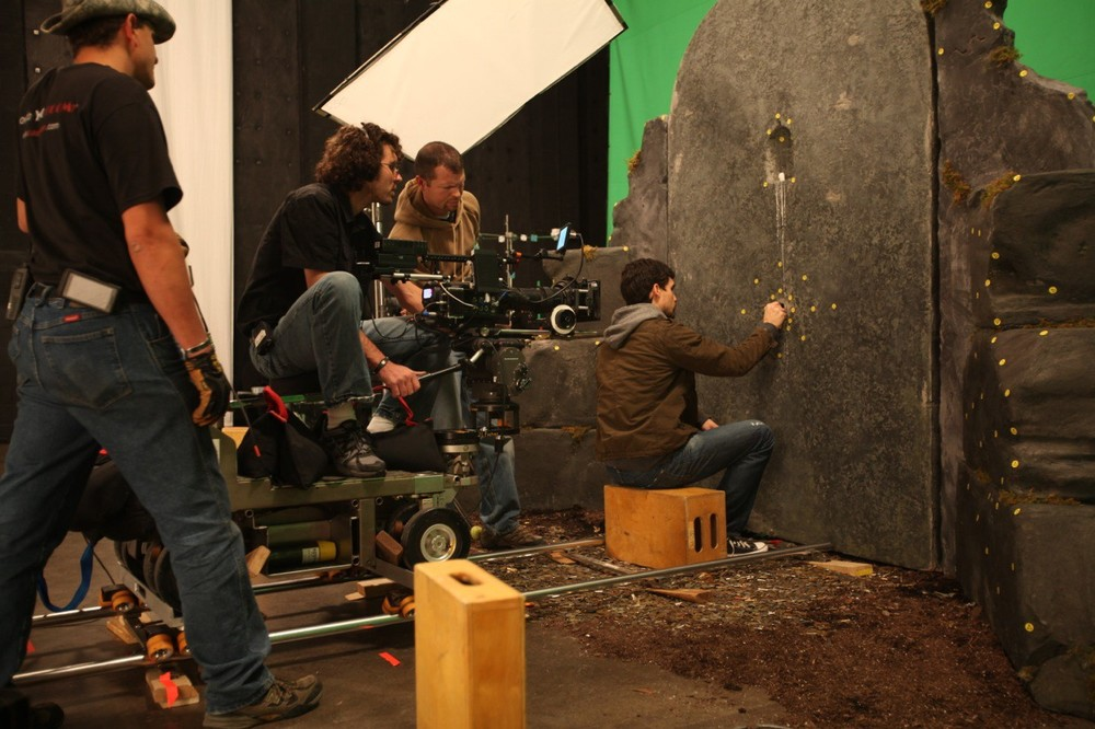 Shooting a scene that takes place within the Darkness