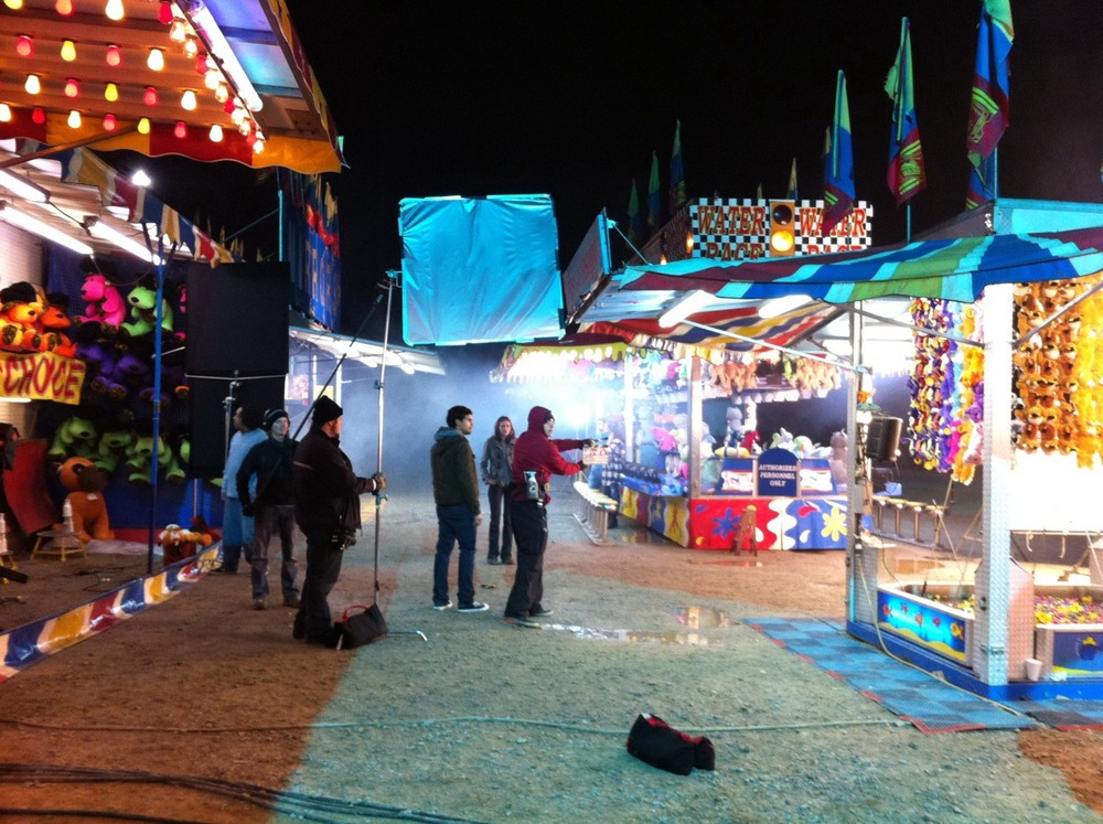 Shooting the carnival scene