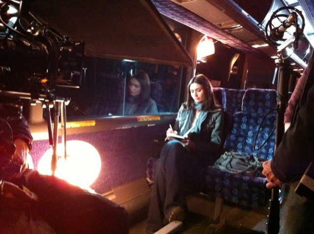 Shooting the bus scene