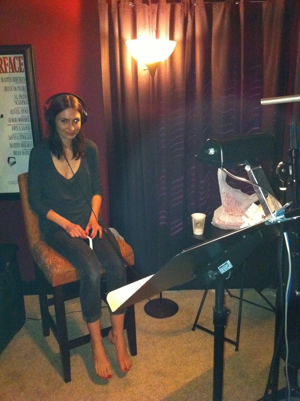 Karolina recording ADR