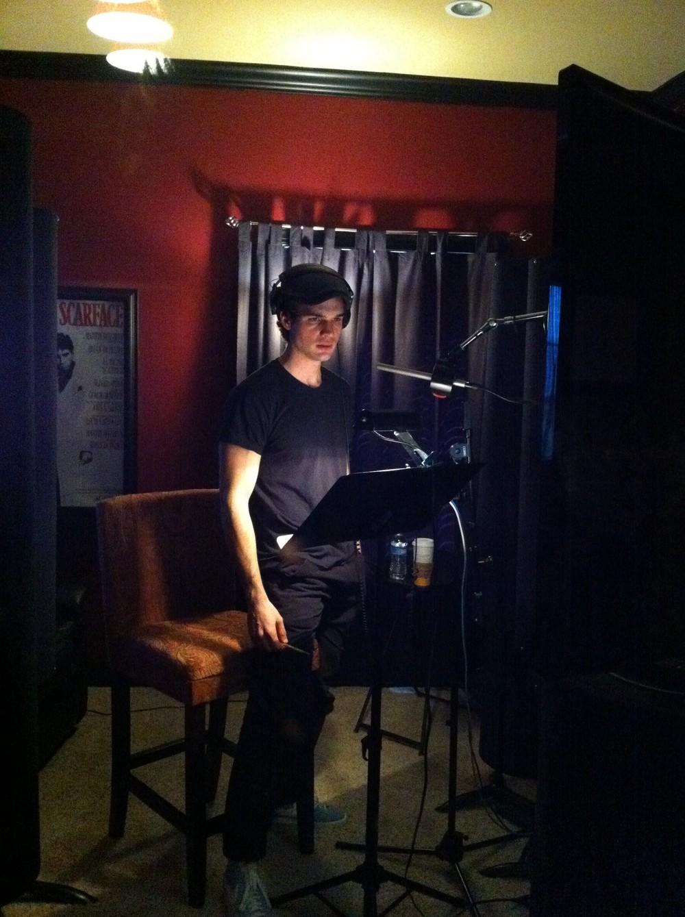 Steven recording ADR