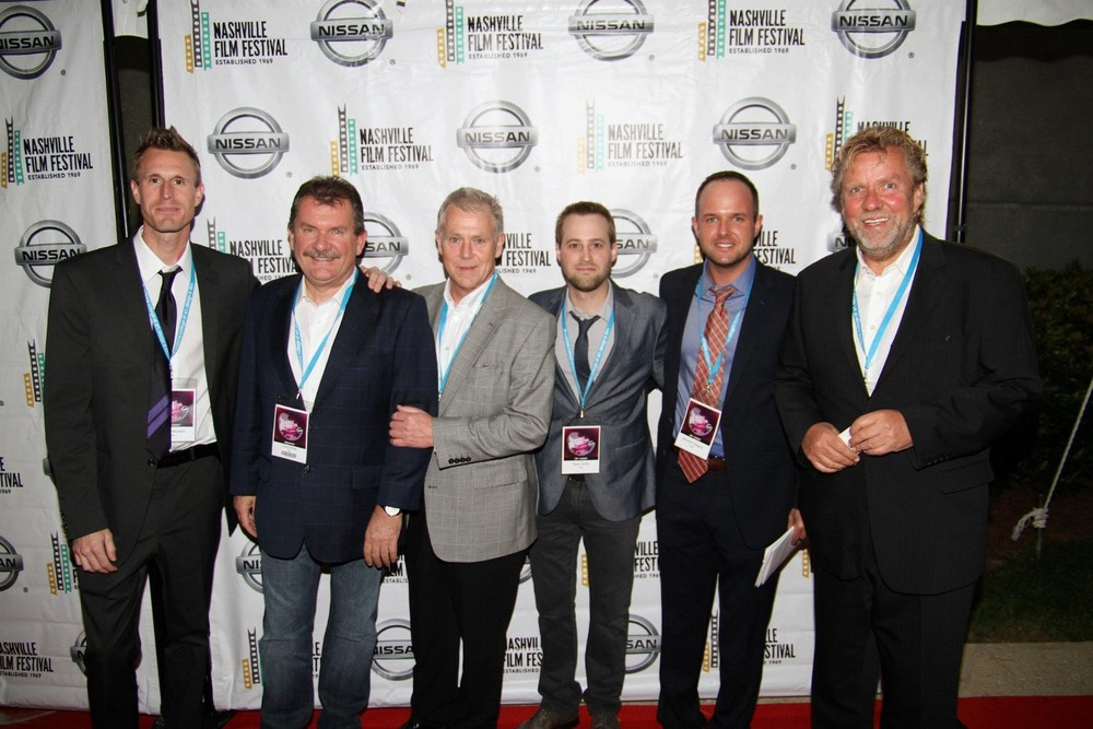 From L: $abyn Mayfield, Executive Producers Chris Schmid and Scott Healy, Myself, Brandon Gregory, and Executive Producer Michael Gangwisch